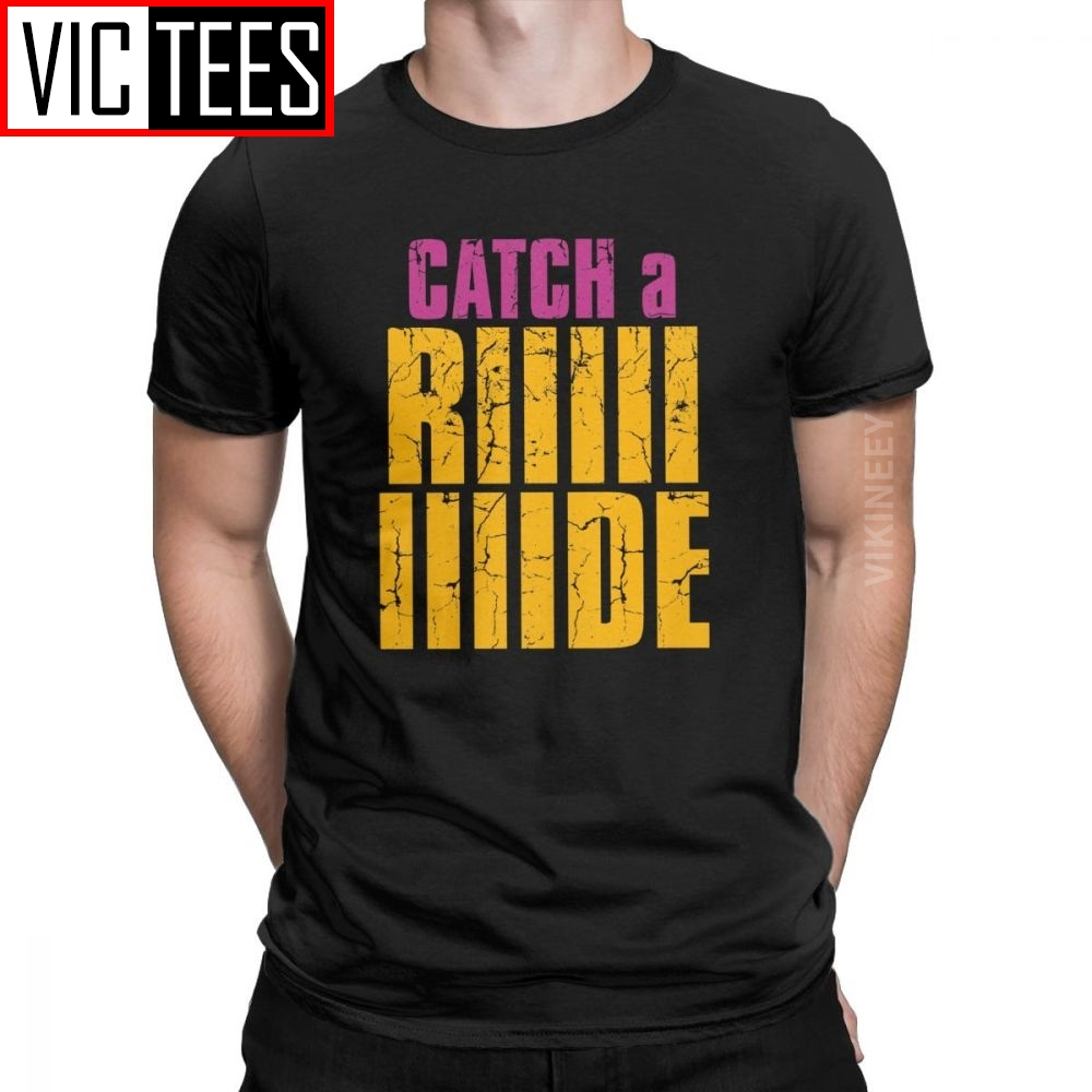 Men T-Shirt <font><b>Borderlands</b></font> Catch A Ride Vintage Cotton Team Weapon Games Tshirt Camisas Hombre Wholesale image