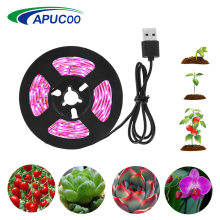 Полный спектр светодиодный светильник для выращивания USB Светодиодная лента фитолампия 1 м 2 м 3 м Фито лампа для растений Комнатное цветочное семя гидропонная Палатка Лампа для выращивания растений