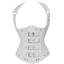 купить Black Red Palace Corset Steampunk Accessories Elegant Metal Buckle Belt Sexy Lace Tight Up Faux Leather Waist Trainer Trend дешево