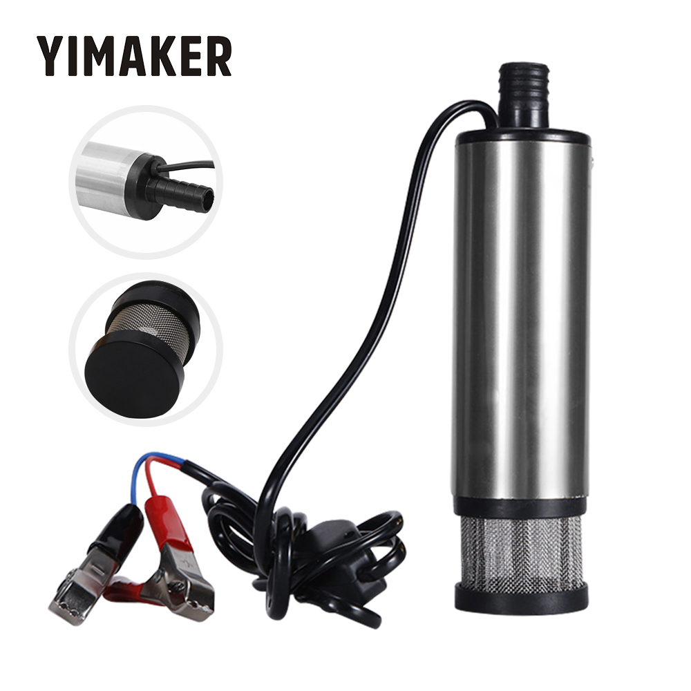 YIMAKER 12V/24V DC Electric Submersible Pump 38mm /51mm Water Kerosene Oil Fuel Transfer Refueling Tool For C