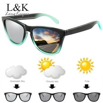 Classic Polarized Photochromic Sunglassses Men Women Change Color Driving Goggles Chameleon Square Glasses UV400 Eyewear Gafas