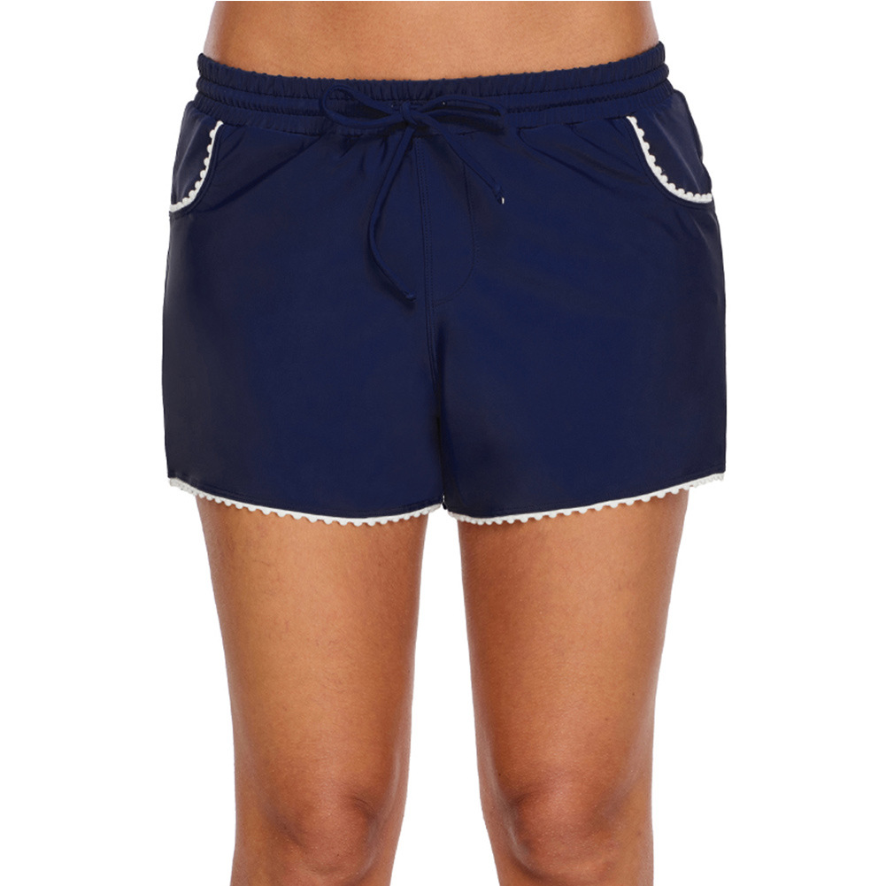 Alone Swimming Trunks Women's Boxer Conservative Slimming Shorts Hot Springs Boxers One-Piece Case Female Bottoms 410839