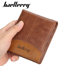 купить Vintage Nubuck Leather Men Wallets Famous Brand short Wallet designer fashion Purse Card Holder For Men дешево