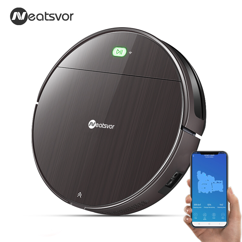 Image 2 - NEATSVOR V392 Robot Vacuum Cleaner,Map navigation,1800Pa Suction,Auto Charge, Map Display, Wifi APP Connect, Electric Water tankVacuum Cleaners   -
