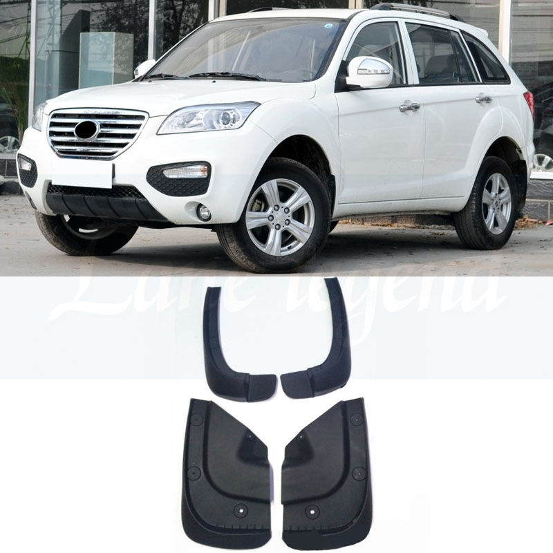 Molded Mud Flaps For Lifan X60 2011 2012 2013 2014 2015 Mudflaps Splash Guards Mud Flap Front Rear Mudguards Fender image