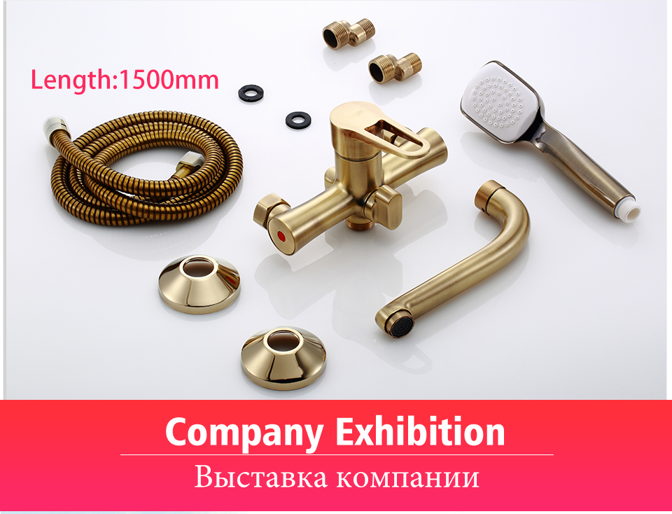Hb71d8d3f7bc74d67a9db641bf80497aeR Potato Bathroom Faucet 5 Colors Water Mounted Bathtub Long Water Outlet Tube 90 Degree Hot Cold Water Mix Tap Shower Set p30270-
