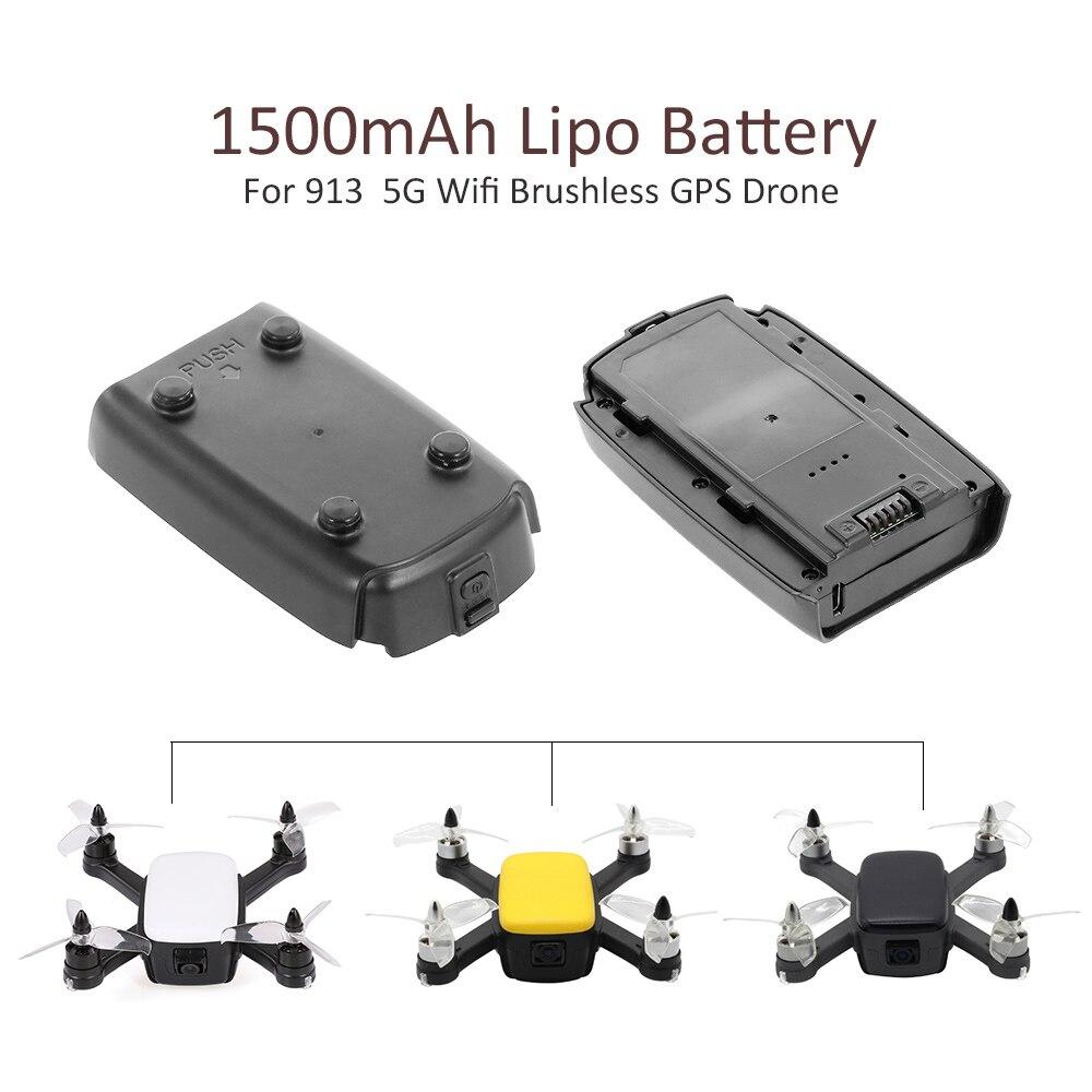 7,4 V 1500mAh LiPo batería para 913 RC Drone 1080P 5G Wifi sin escobillas Quadcopter GPS