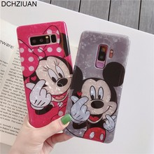 DCHZIUAN szyszka Mickey etui na telefony do Samsung Galaxy S10 Plus S8 S9 Plus uwaga 8 9 Cute Cartoon silikonowa tylna okładka Coque(China)