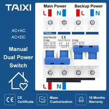 Blokada przerywacz/ręczny podwójna moc przełącznik MCB DZ47SD 6A 10A 16A 20A 32A 40A 50A 63A 80A 100A przełącznik powietrza