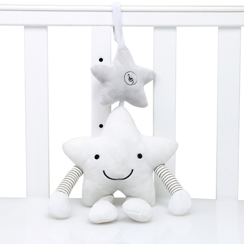 Baby Toys For Stroller Music Star Jingles When Shook Crib Hanging Newborn Mobile Rattles Cute Educational Plush Toys