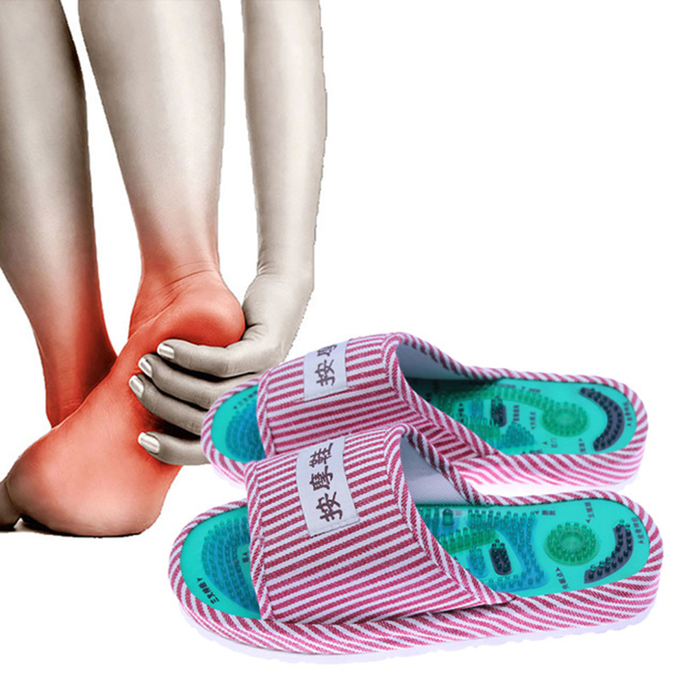 Pontos de Acupuntura Massagem Sapatos KONGDY 1 Par Chinelos Reflexologia Magnética Alívio Da Dor Pé Relaxamento Cuidados Saudável Sapatos
