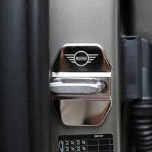 Крышка дверного замка автомобиля из нержавеющей стали защитная наклейка для BMW MINI Cooper S F54 F55 F56 F60 R60 R61 автомобиль-аксессуары для укладки