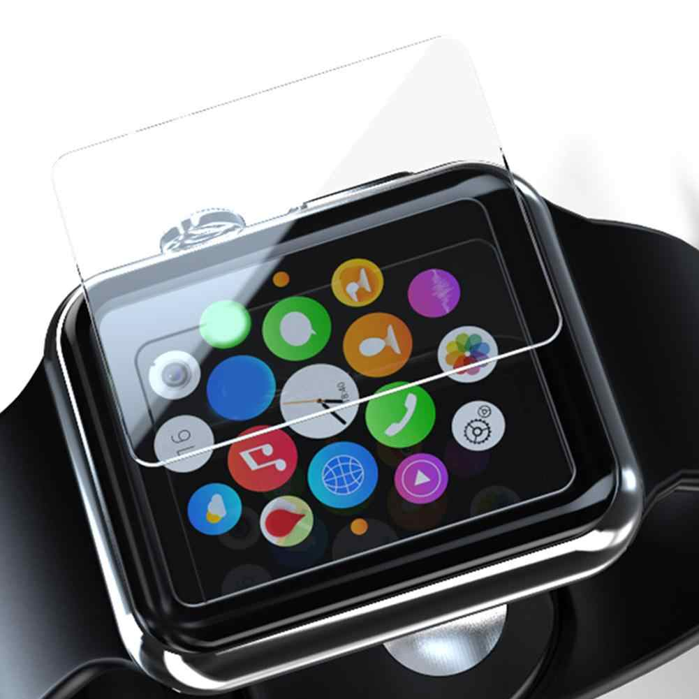 Premium Tempered Glass HD Full Screen Protector Guard Film for Apple Watch 1 2 3 Series 38mm / 42mm 9D Curve Edge Glass