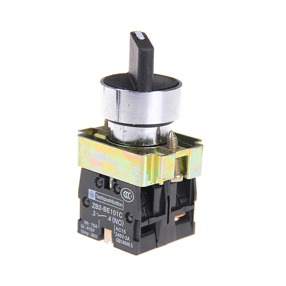 XB2-BD33C 600V//10A 3Position 2NO Maintained Toggle Select Switch 2Pcs