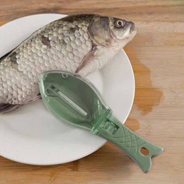 New Fish Scale Remover Scaler Scraper Cleaner Kitchen Tool Peeler Gadgets Fish Scaler Clam Opener Fishs Clam Scale Scraper Sep 2 3