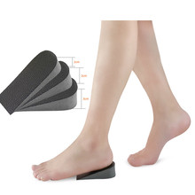 1 Pair Breathable Half Insole Women Men Height Increase Inserts 1-3cm Unisex Sport Shoes Heel  Pad Cushion