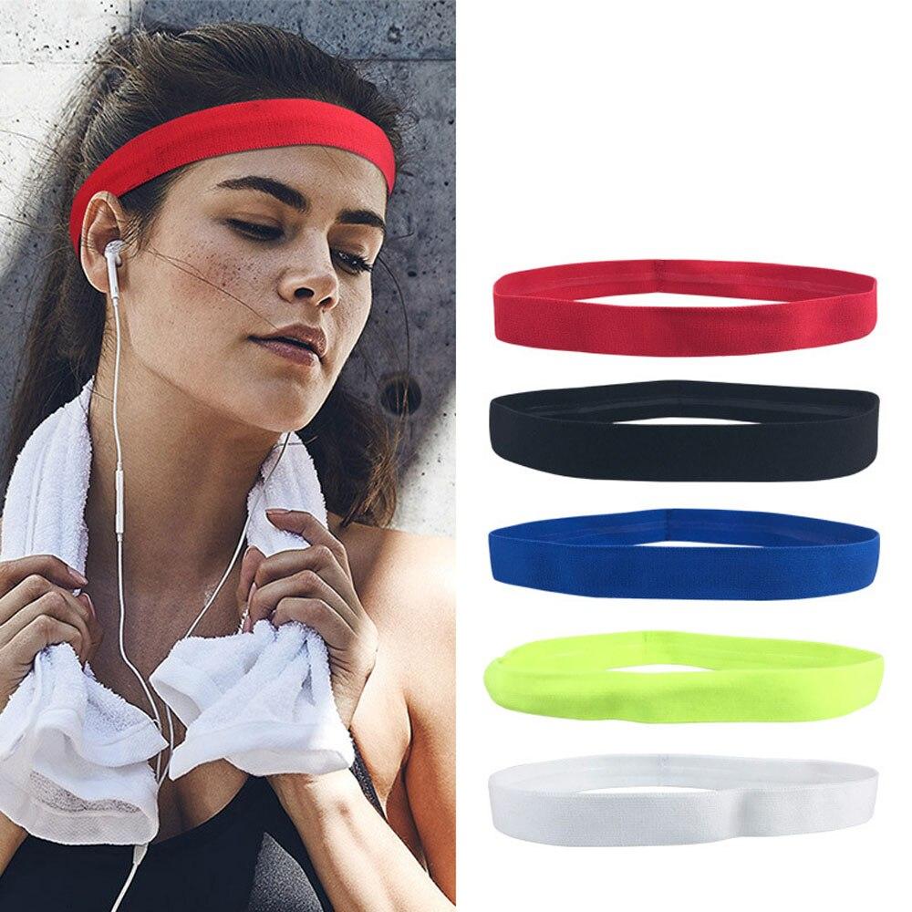 Обруч для волос для спорта противоскользящая эластичная повязка на голову для бега на велосипеде повязка на голову для женщин и мужчин