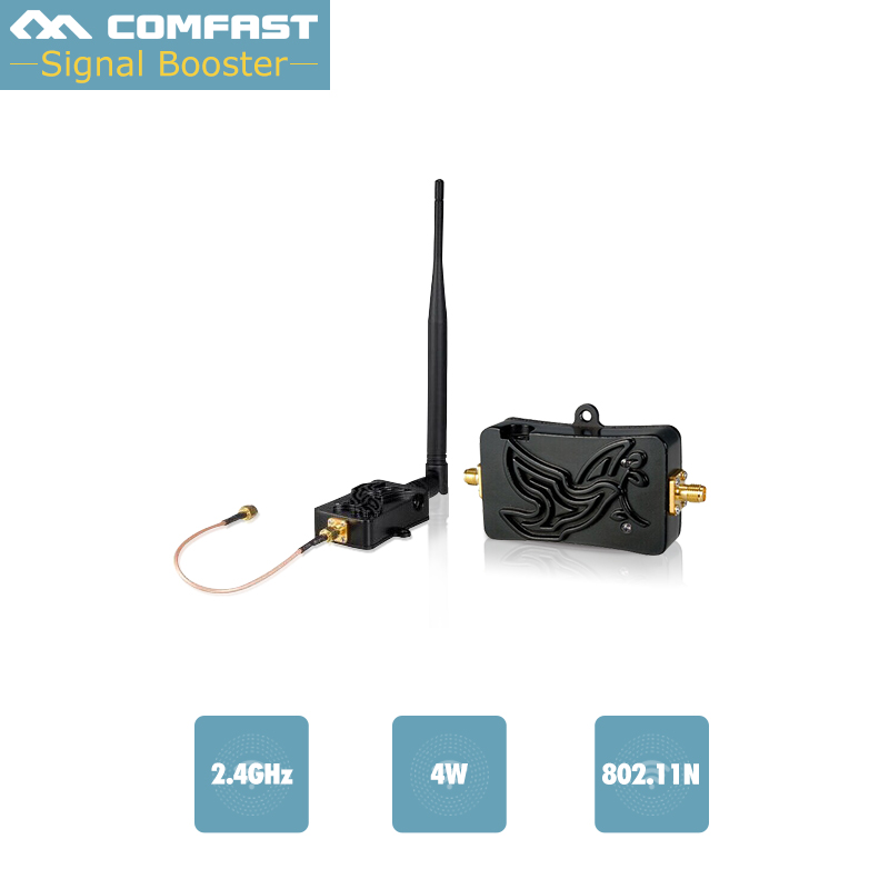 4W 4000mW 802.11b/g/n Wifi Wireless Amplifier Router Comfast 2.4Ghz WLAN Signal Booster Broadband Amplifiers With Antenna