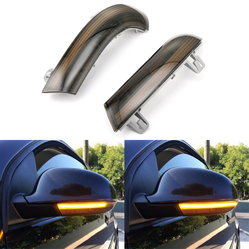 For VW <font><b>GOLF</b></font> <font><b>5</b></font> GTI V MK5 Jetta Passat B5.<font><b>5</b></font> B6 Sharan Superb EOS Dynamic <font><b>LED</b></font> Turn Signal <font><b>Light</b></font> Side Wing Mirror Indicator image