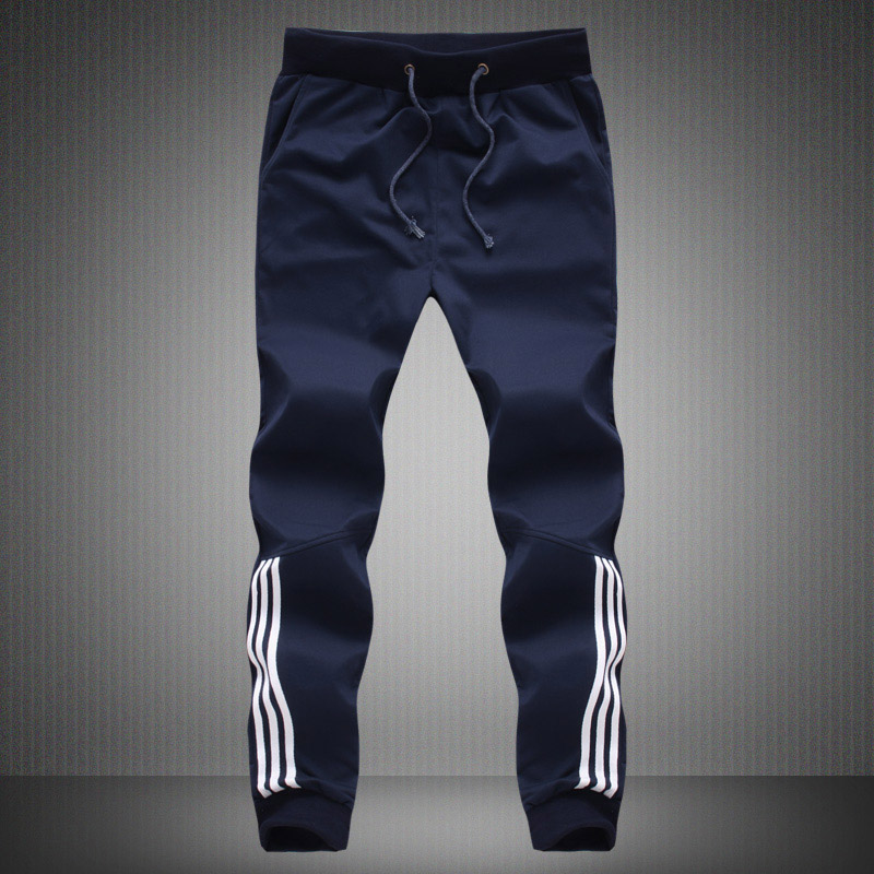 Spring Summer Mens Pants Fashion Skinny Sweatpants Mens Joggers Striped Slim Fitted Pants Gyms Clothing Plus Size 5XL Harem Pant 5