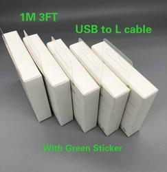10 pçs/lote alta qualidade 1m/3ft folha de alumínio usb cabo dados sincronização carregador para 6s 7 8 mais xr xs max com novo pacote