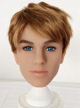 Gay di Sesso Maschile Bambole Testa per il Sesso Dildo Realistico Bambola Del Sesso Reale TPE Silicone Torso Mens 3D Testa di Bambola Del Sesso Per gay Vestito per Omosessuale