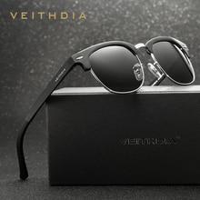 VEITHDIA Retro Unisex Aluminum Magnesium Mens Sunglasses Polarized Vintage Eyewear Accessories Sun Glasses For Men Women 6690