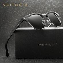 VEITHDIA ريترو للجنسين الألومنيوم المغنيسيوم الرجال النظارات الشمسية المستقطبة خمر نظارات اكسسوارات نظارات شمسية للرجال النساء 6690