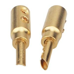 Image 5 - 8 adet 50 adet 100 adet Xangsane saf bakır kum kaplama altın muz fişi hifi hoparlör kablosu konektörü ücretsiz lehimleme ses konektörü