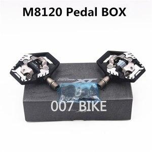 Image 5 - Shimano Deore XT PDM8000 M8020 M8100 M8120 SPD MTB Mountain Bike Clipless Pedals & Cleats PD M8100 PD M8120 Pedals