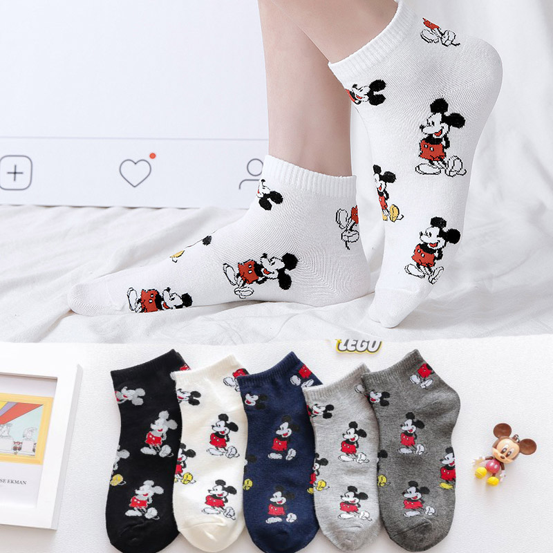 Cartoon Character Women   Socks   Fashion Funny Cute Anime Women   Socks   Breathable Comfortable Kawaii Short Ankle   Sock