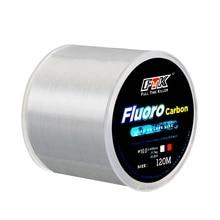 120M Fluorocarbon 코팅 낚시 라인 0.20mm-0.60mm 7.15LB-45LB 탄소 섬유 리더 라인 낚시 미끼 와이어 싱킹 라인 일본