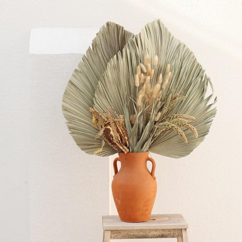 Натуральный сушеный цветок, пальмовый лист, художественное настенное украшение «сделай сам» для свадебной арки, композиция вечерние, Декор...