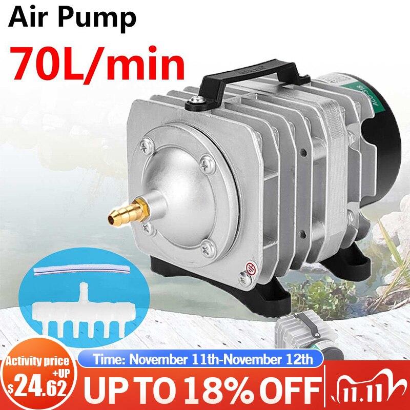 35 Вт 220V 70L/мин воздушный компрессор ACO-318A для аквариума электромагнитный насос аквариум с подачей кислорода Средний аквариум для рыбок компр...