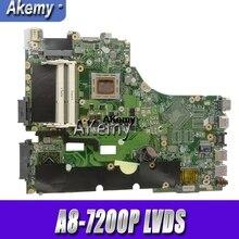 X550ZA per For Asus Scheda Madre Del Computer Portatile X550ZE X550ZA K550Z A555Z VM590Z A8-7200P LVDS originale mothebroard prova di 100% ok