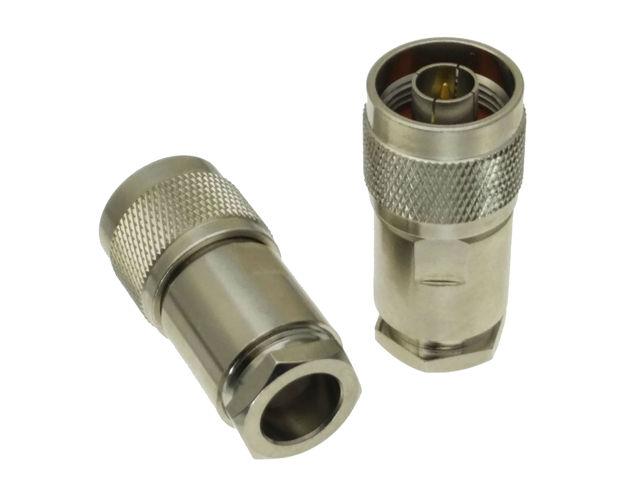 10 Uds. De conector N macho, abrazadera de enchufe RG8 LMR400 RG213 RG165 RG393 RG214 Adaptador Coaxial RF recto