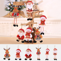 2019 New Small dolls Christmas tree decorations pendant Christmas day children's small gifts hanging lanyard dolls 1