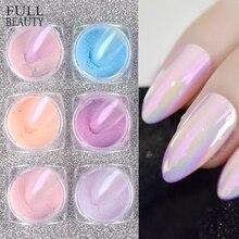 0.5g Transparent Aurora Nail Glitter Winter Holo Mirror Chameleon Nail Chrome Pigment Dazzling Dip Powder Manicure Decor CH1786