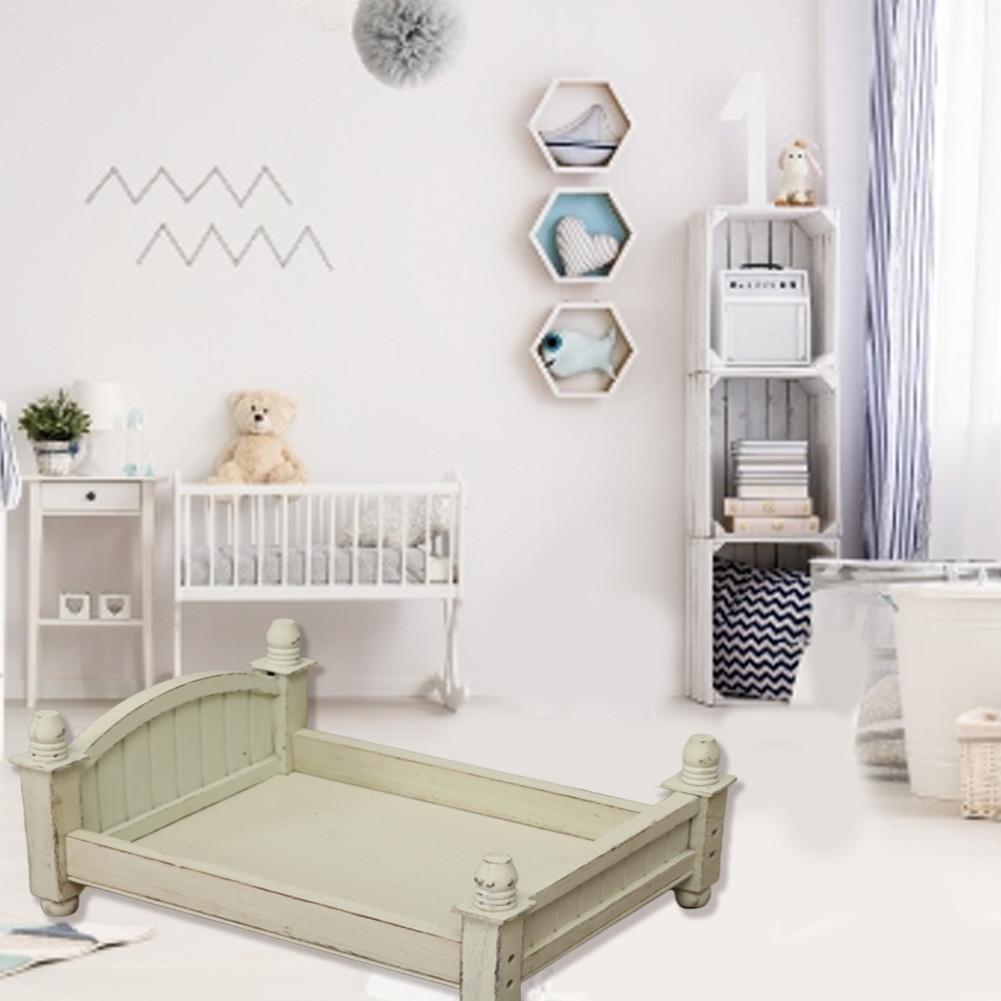 Newborn Photography Props Small Wooden Bed Original Design Four Colors Optional Baby Bed Foldable And Removable Bed