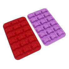 18 Grid Silicone Chocolate Mold Tray Creative Dog Bones Shaped Ice Cube Cake Biscuit Dessert Cube Moulds(China)