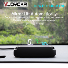 Vjoycar MX20 Mirror HUD OBD2 Speedometer Large & Clear Font RPM Speed Projector Clock Oil Consumption Auto Mirror ON & OFF