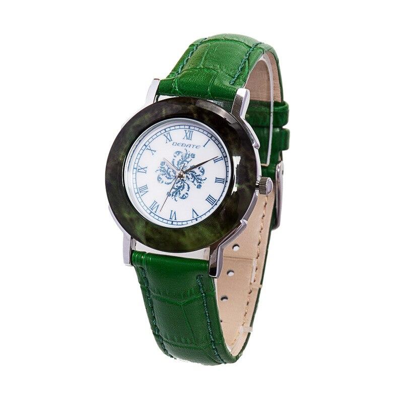 2019 vente bleu et blanc porcelaine Imitation marbre femmes porter bracelet en cuir étanche Quartz montre fabricants en gros