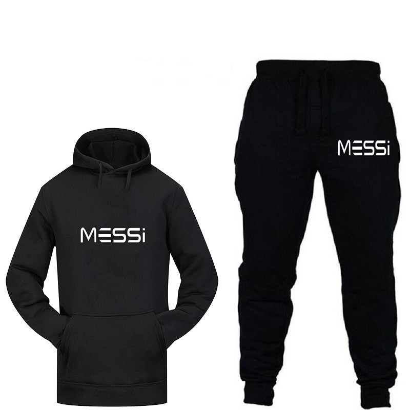2019 New Fashion Brand Men's Fashion Casual Sports Hooded Sweater Suit + Brand Autumn / Winter Sports