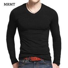 MRMT Мужская футболка с длинным рукавом для мужчин футболка тонкий твердый человек одежда футболки для мужчин