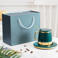 New Green Simple Style Ceramic Cup With Golden Handle And Saucer Coffee Milk Tea Cup Decorative As Gift Cup Set With Gift Box стоимость