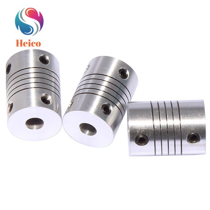 Aluminum Alloy Elastic Coupling  Motor Jaw Shaft Coupler 5mm To 8mm Flexible Coupling OD18x24mm Fixing Encoder Winding Coupling