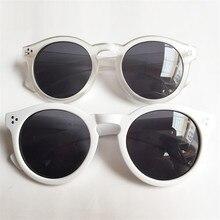 Fashion Round Sunglasses Women White Transparent Sun Glasses