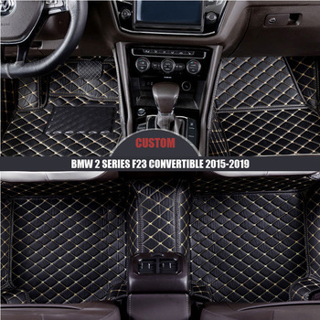 Custom Leather Car Floor Mats For BMW 2 Series F23 Convertible 2015 2016 2017 2018 2019 Custom foot Pads automobile carpet