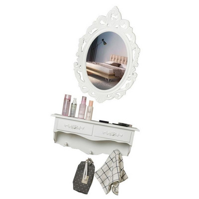 European Modern Minimalist Small Apartment Mini Wall Dressing Table Mirror Garden Bedroom Dressing Table
