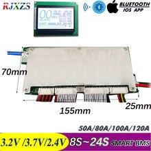 8 Đến 24S Kiến Thông Minh BMS BlueTooth Tự Làm LiFePO4 Lithium Ion 50A/80A/100A/110A/120A Với Android Bluetooth Ứng Dụng